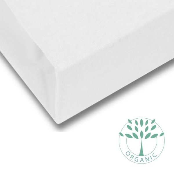 Organic Cotton Fitted Bed Sheet in White